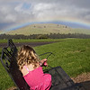 Clio contemplating somewhere over the rainbow.