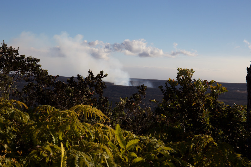 From the Volcano House and observatory  we saw mostly steam during the day.