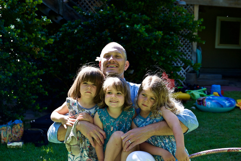 Jason with an armload of nieces.