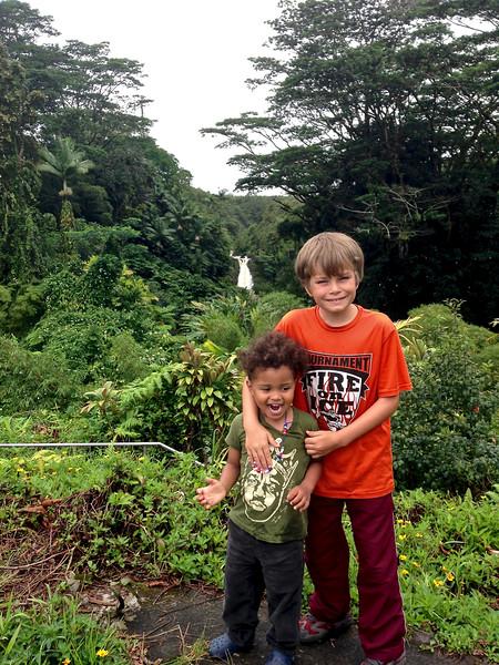 Baye and Taio at Akaka Falls.