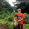 Baye and Taio at Akaka Falls.