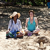 Lu,  Nathalie . . . and sandcastles.