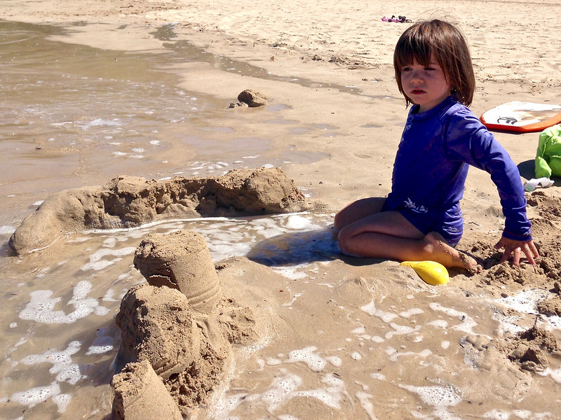 We built sandcastles; here Anahita 's dike is breached.
