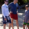 Cousins:  Tim Stoddard, Jason and Jack Vann, on the beach at Waialea (Beach 69).