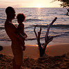 Jason and Masha, sunset at Waialea.
