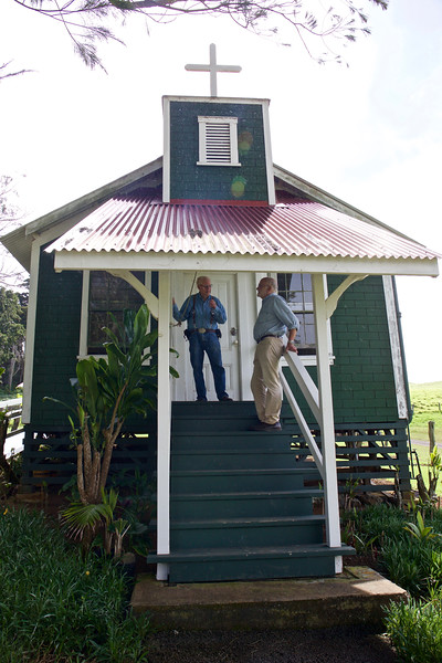 Monty and Steve at the Kahua chapel.