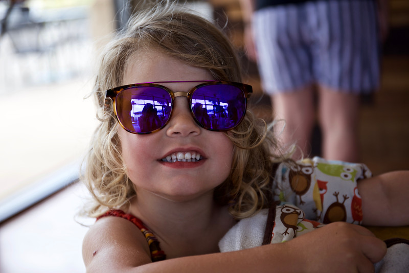 Clio in Nathalie's sunglasses.