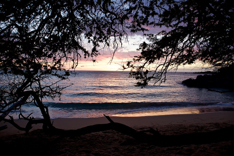 We arrived at  the Waialea beach house in time for a magical sunset.  The beach was about 200 feet from the house.