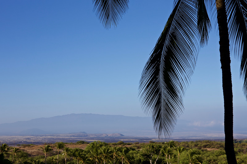 The view:  <br /> Hualalai, one of the 5 shield volcanoes on the island of Hawaii, dormant since 1801. . .