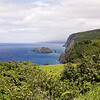 A favorite lookout: The cliffs that form the seaward edge of the Kohala Ditch country were formed by a giant landslide several hundred thousand years ago.