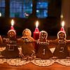 More gingerbread family:  Justin, Nathalie, Taio, Anahita, Clio and Makeda