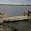 We took lots of photos.  The dock is pulled up in the winter when the lake freezes. There is ice-fishing in winter here.