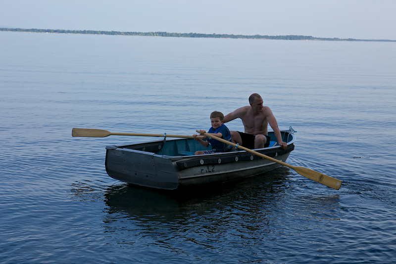 Taio learns to row with Uncle Jason