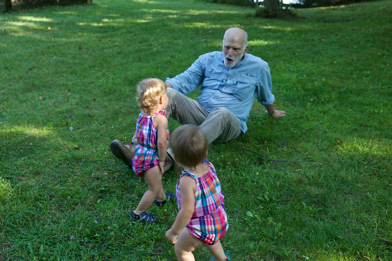 Steve loved playing with the children.