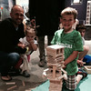 On a rainy day we went to ECHO science museum on the lake in Burlington and Taio became a tower-builder.