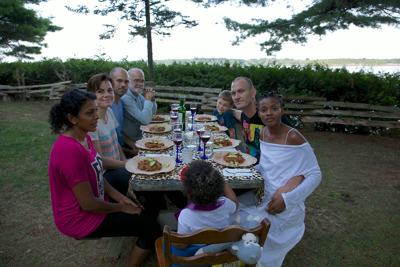 While the weather was warm and dry, we dined outside. Couples took turns preparing dinner and we all enjoyed the diversity of menus.