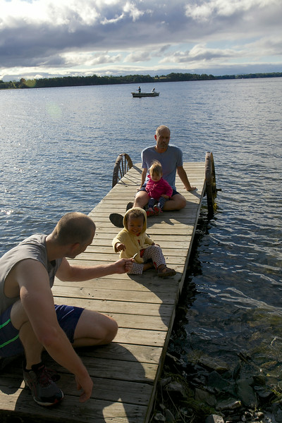Some waited on the dock, others fished.