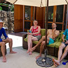 John, Emily, Justin and Tim, at the beach house.
