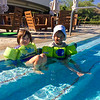 Anahita and Baye in the pool at Hapuna Prince Hotel shortly after our arrival.