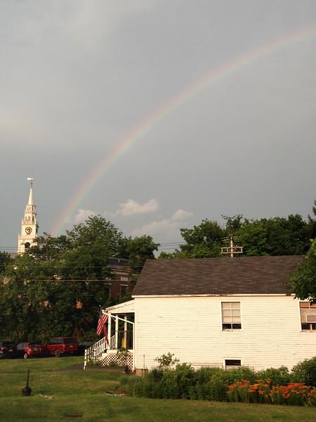 Rainbow over Middlebury.