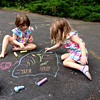 Driveway artists Makeda and Clio.