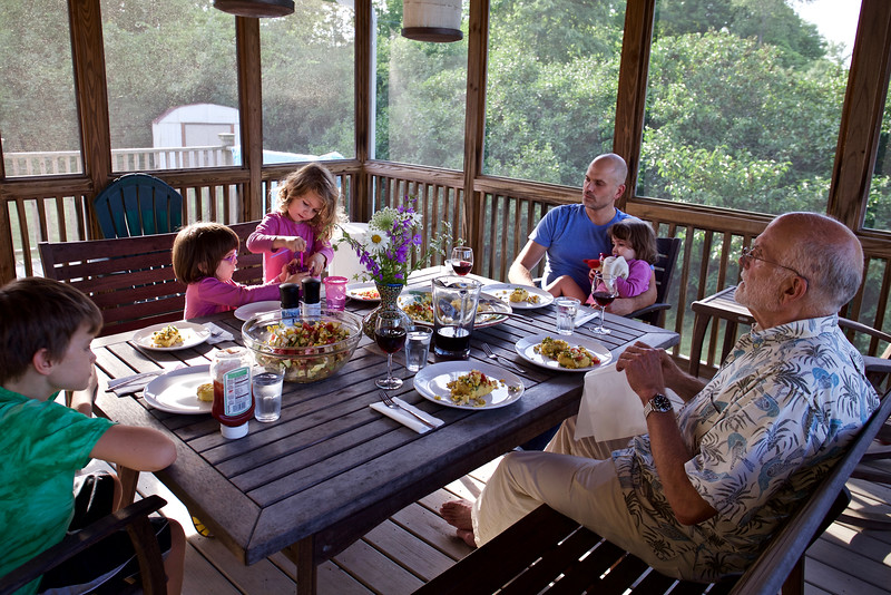 Dinner on the porch