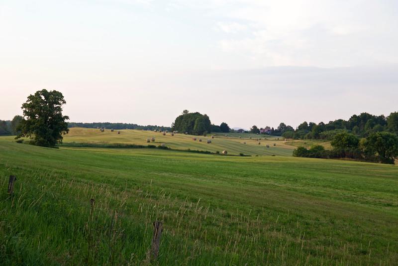 Evening on Sheep Farm Road.