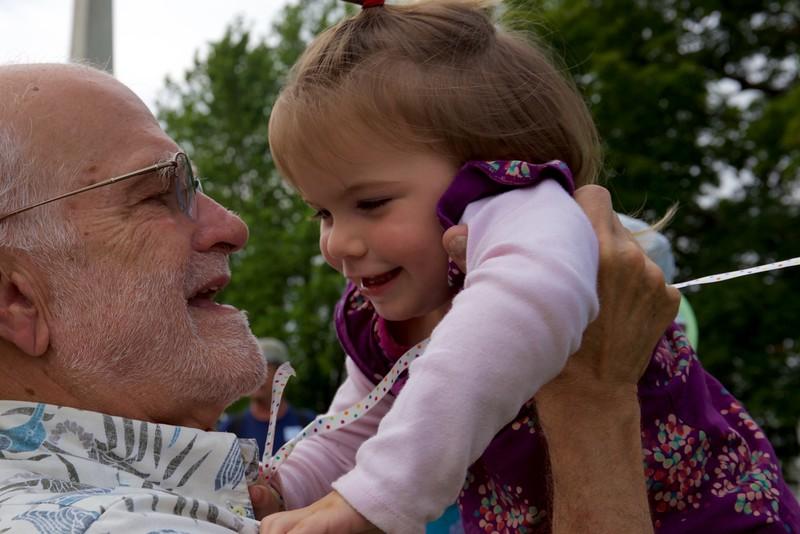 Grandpa plays with Anahita