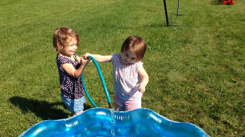 Half the fun is filling the pool.
