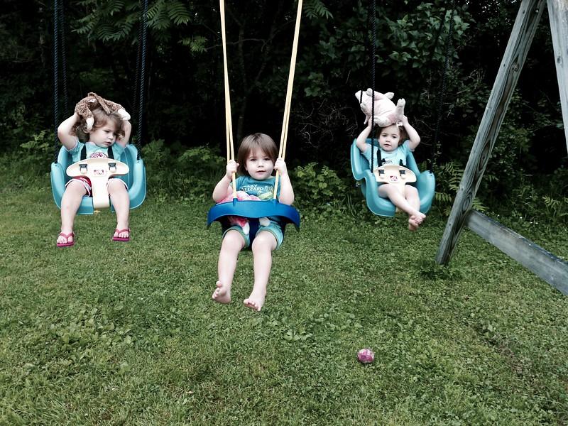 swinging with animals
