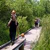 Walking to Otter Creek Park on the boardwalk.