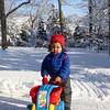 Baye in his grandparents' backyard in Hamden, CT.