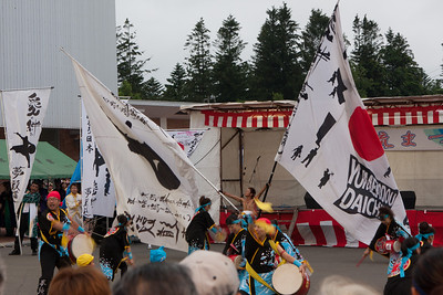 Checking out Shimizu's summer festival