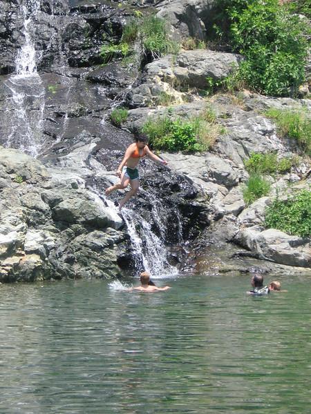 Anna jumping into Lake Don Pedro Summer 2006