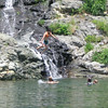 Anna jumping into Lake Don Pedro Summer 2006