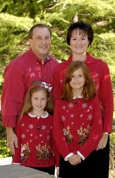 2005 Christmas Card_BLM1635_4 of us_Sanctuary Park_4x6