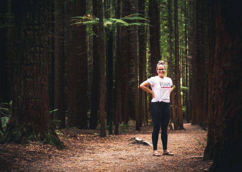 Cadey in Redwoods Park