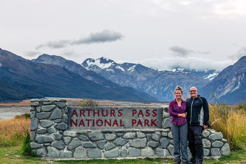 Cadey and I at Arthur's Pass