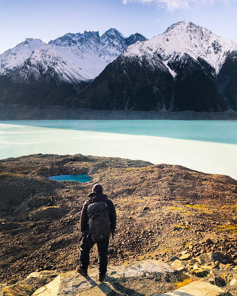 Overlooking Tasman Glacier Lake