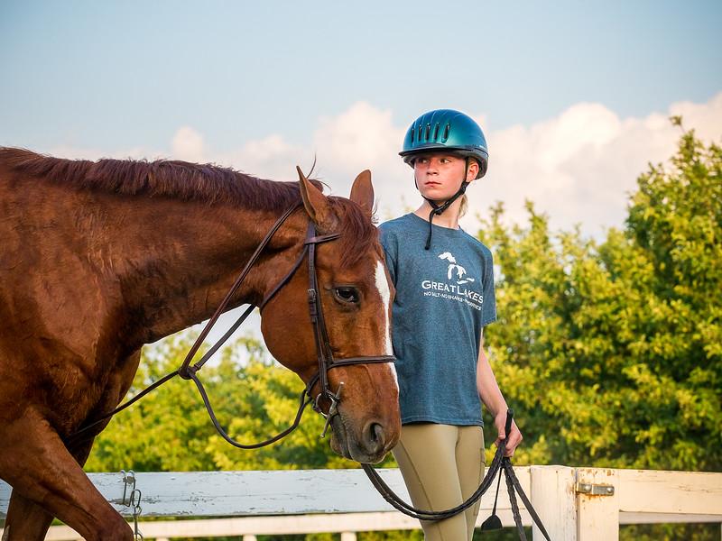 Peyton at Horse Lessons