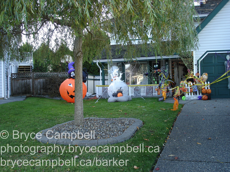 Stirlings house at Halloween, October 31, 2009<br /> 186a St Surrey BC