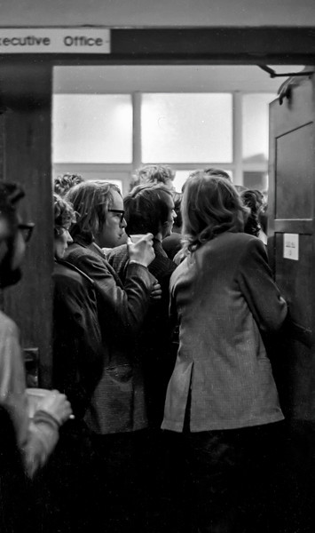 Protest at Engineering Society, University of Leeds, March 12 1970.