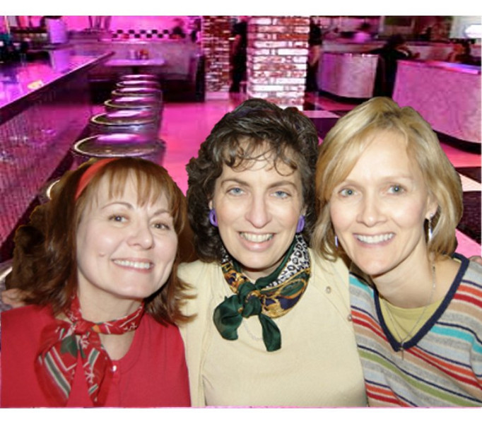 3 beauties! Cindy Smith, Me & Laurie James