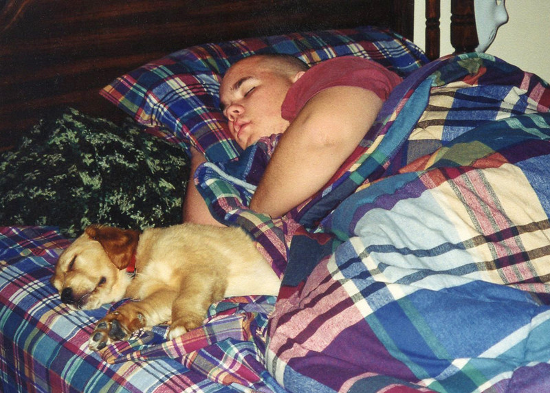 James and Daisy Ann sleeping buddies