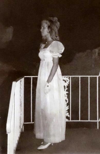 Martha on Prom night.