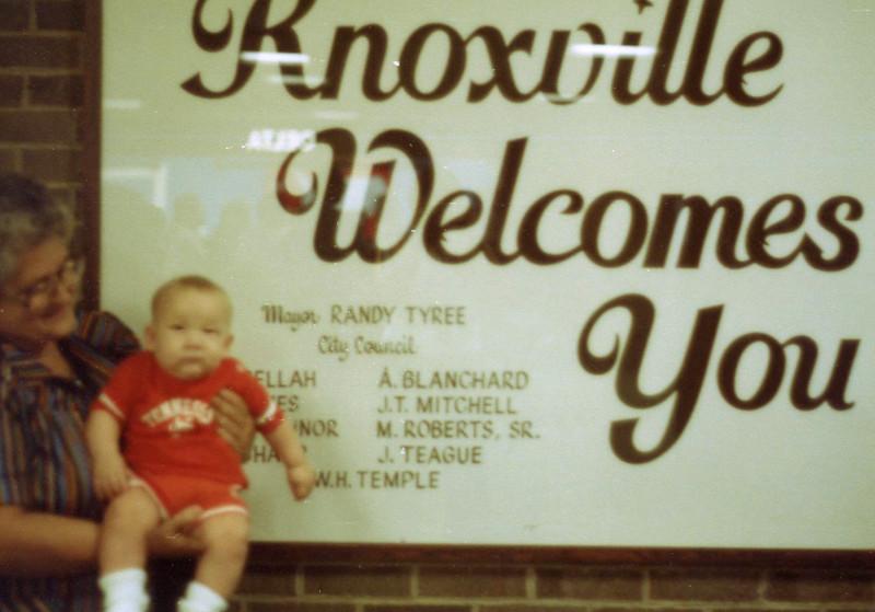 John Bovinette visiting Knoxville