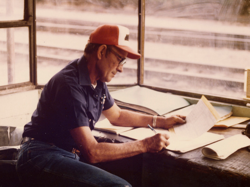 Frank Beeler's last day at work at the Rail Road