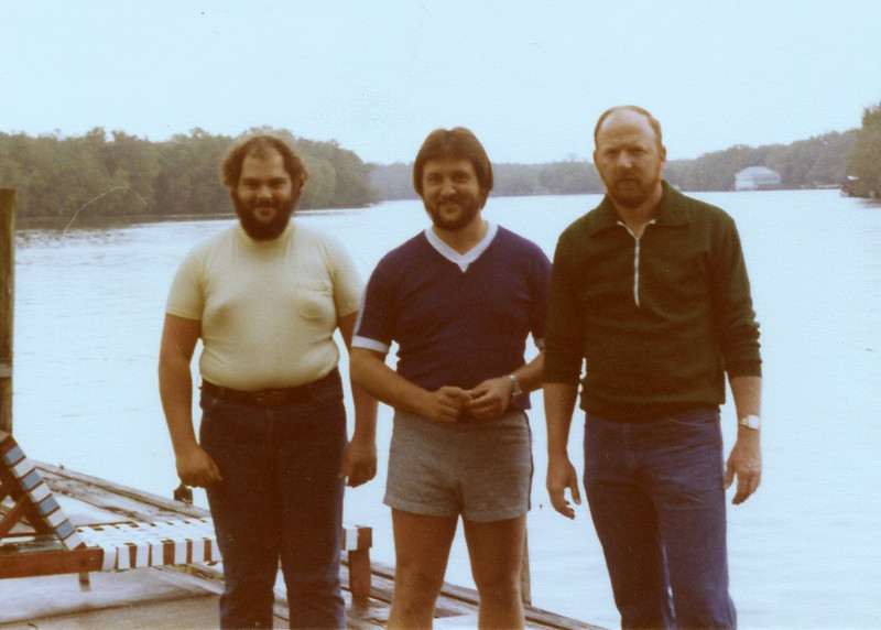David, Frankie and Mike - March 1980 at Halls Fish Camp, Astor FL