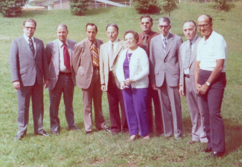 Dad's Family - Lt to Rt, Curtis,  Forest, Carl, Osco,  Drucilla, Ralph, Charles, Paul & Frank