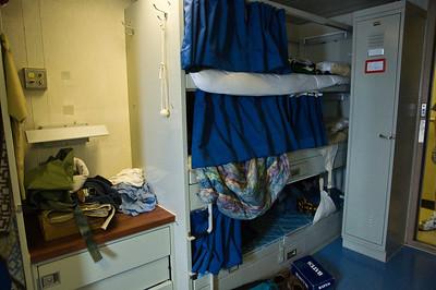 Michael has the top bunk...
